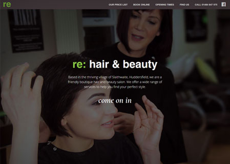 re hair and beauty website by RF